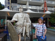 Carol on the wharf in Sydney