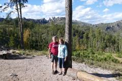 Garrett and Carol at the Needles in South Dakota