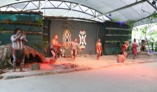 The Aboriginal dancers at the Tjapukai Cultural Park