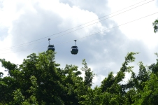 The Skyrail Rainforest Cableway over the Kuranda rainforest