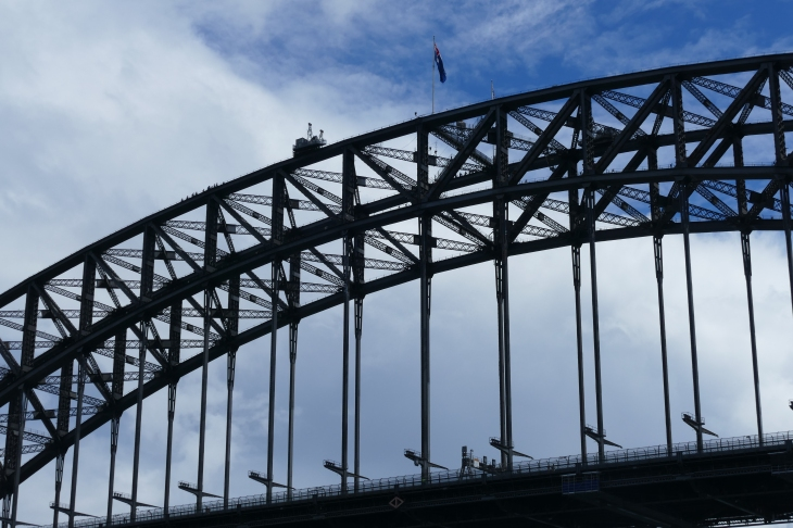 The Harbor Bridge. My nephew, Reid, climbed this some years ago!