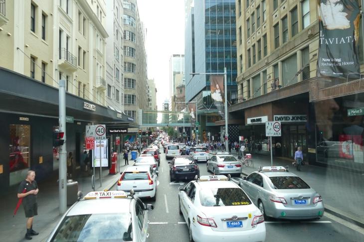 Sydney traffic.