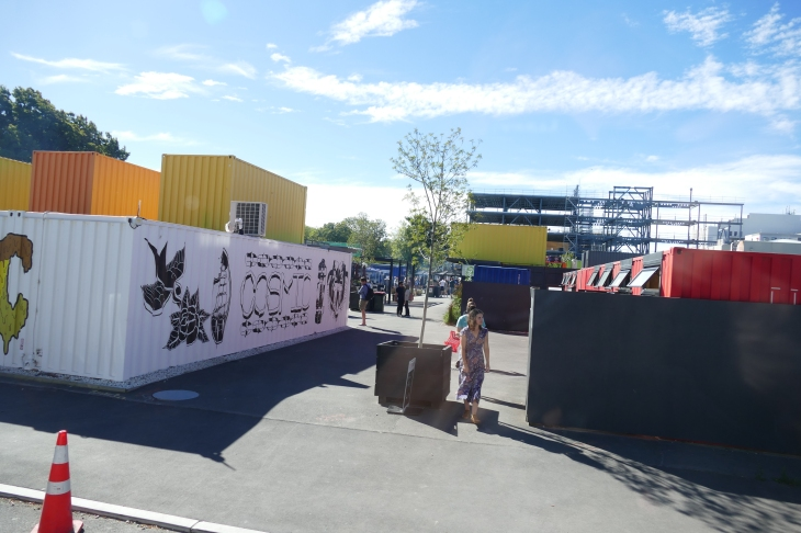 Rebound Mall with businesses operating out of containers, Christchurch NZ