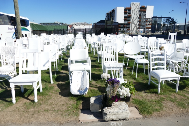 Empty Chair Memorial, Latimer Square, Christchurch NZ