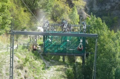 Zip line at Kawarau River