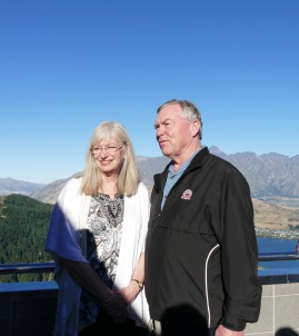 Judy and Gary at the Queenstown Skyline Restaurant