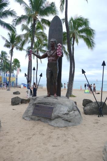 Famous surfer of Waikiki