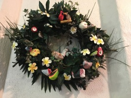 The winning wreath in Hale Honolulu