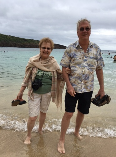 Ken and Garnet on Hanauma Beach