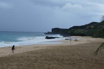 A surfer's beach close to Hanauma Bay