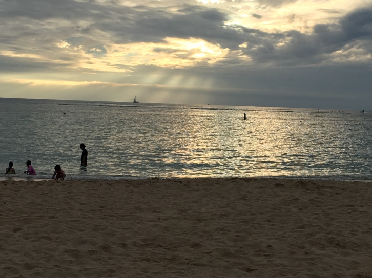 Waikiki at sunset